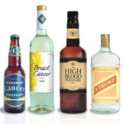Image of bottles of alcohol