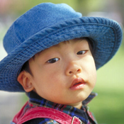 Image of a child wearing hat