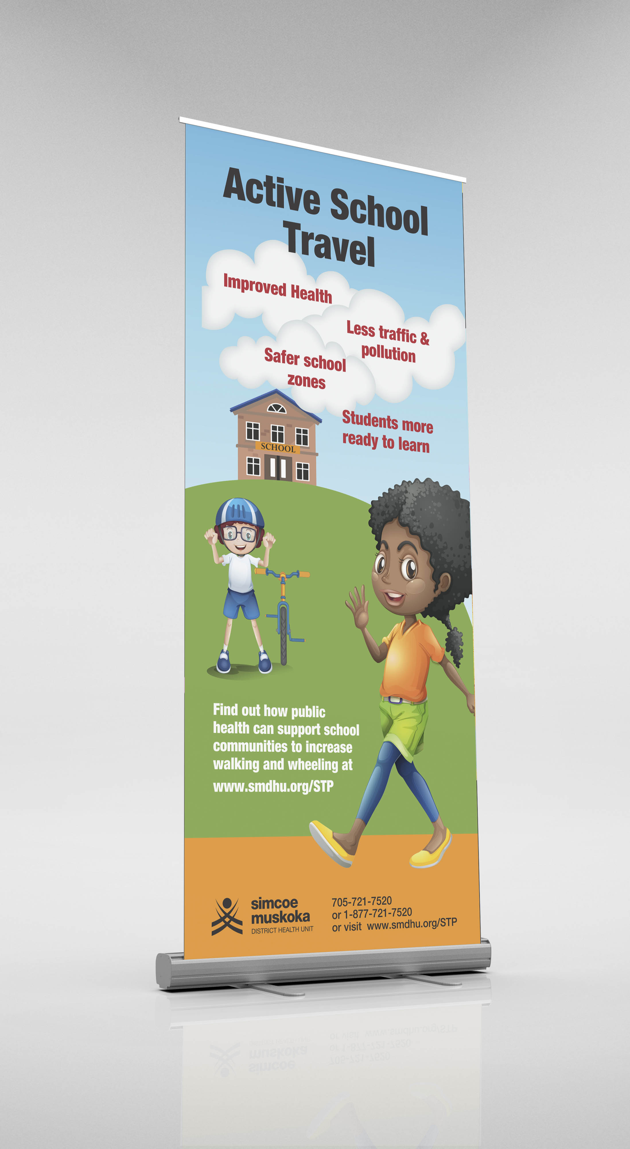 stp roll up banner mockup
