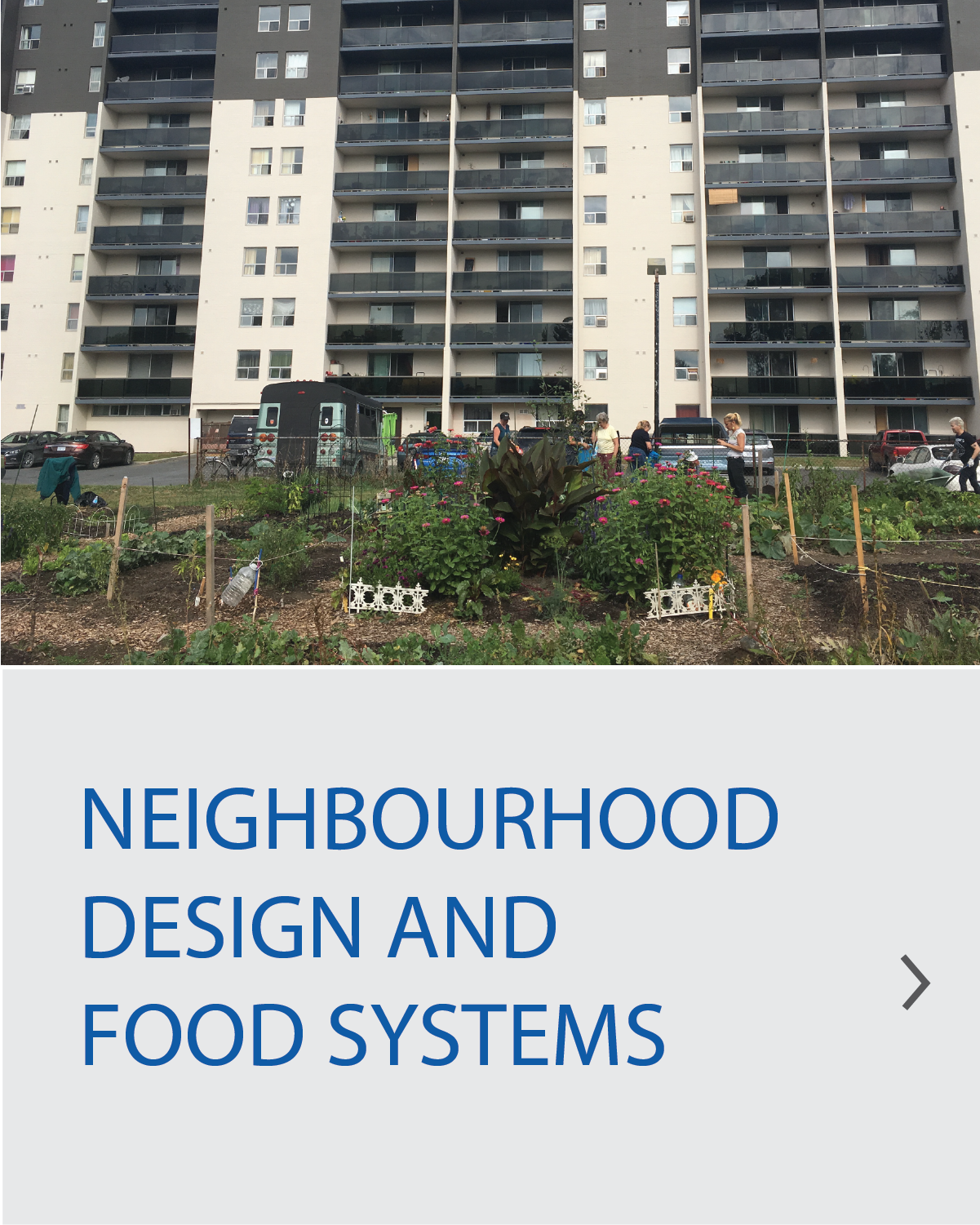 Neighbourhood Design and Food Systems