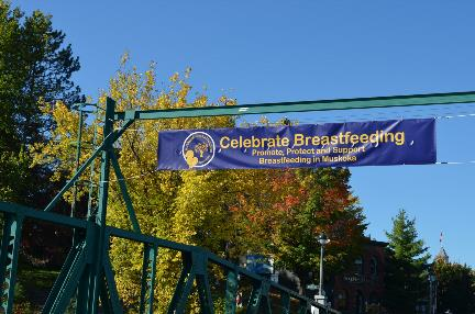 Banner across King William Street Bridge, Huntsville