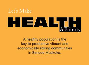 Block of text: Let's Make Health A Priority
