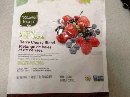 Package of Nature's Choice Berry Cherry Blend frozen fruit