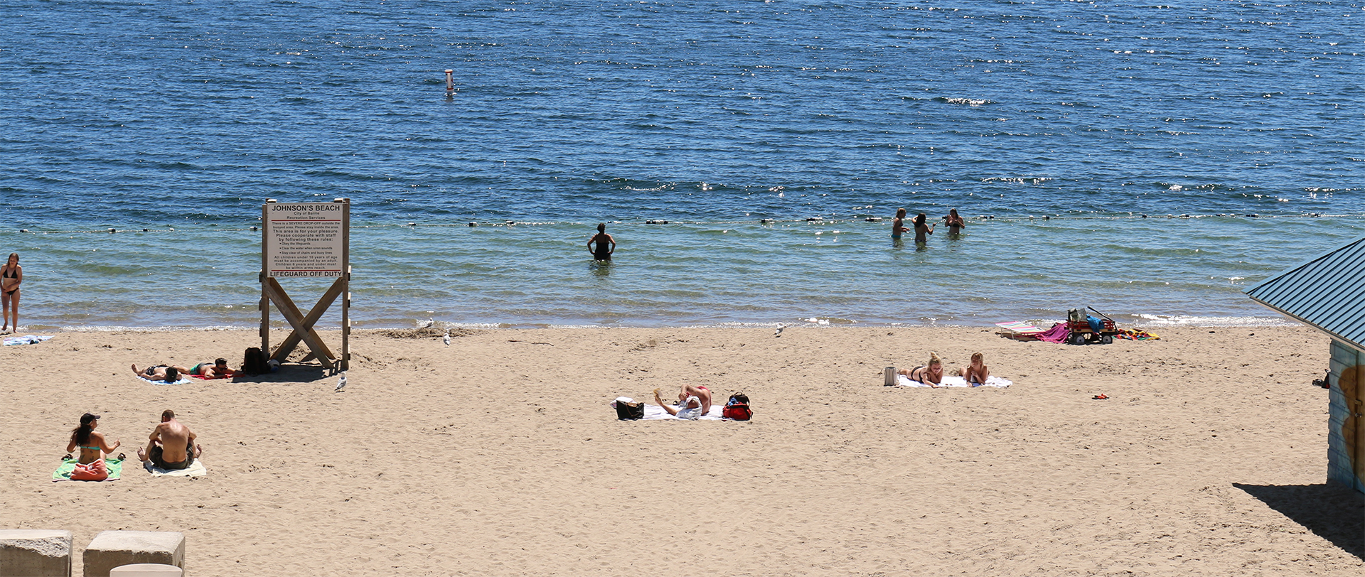 Beach water testing