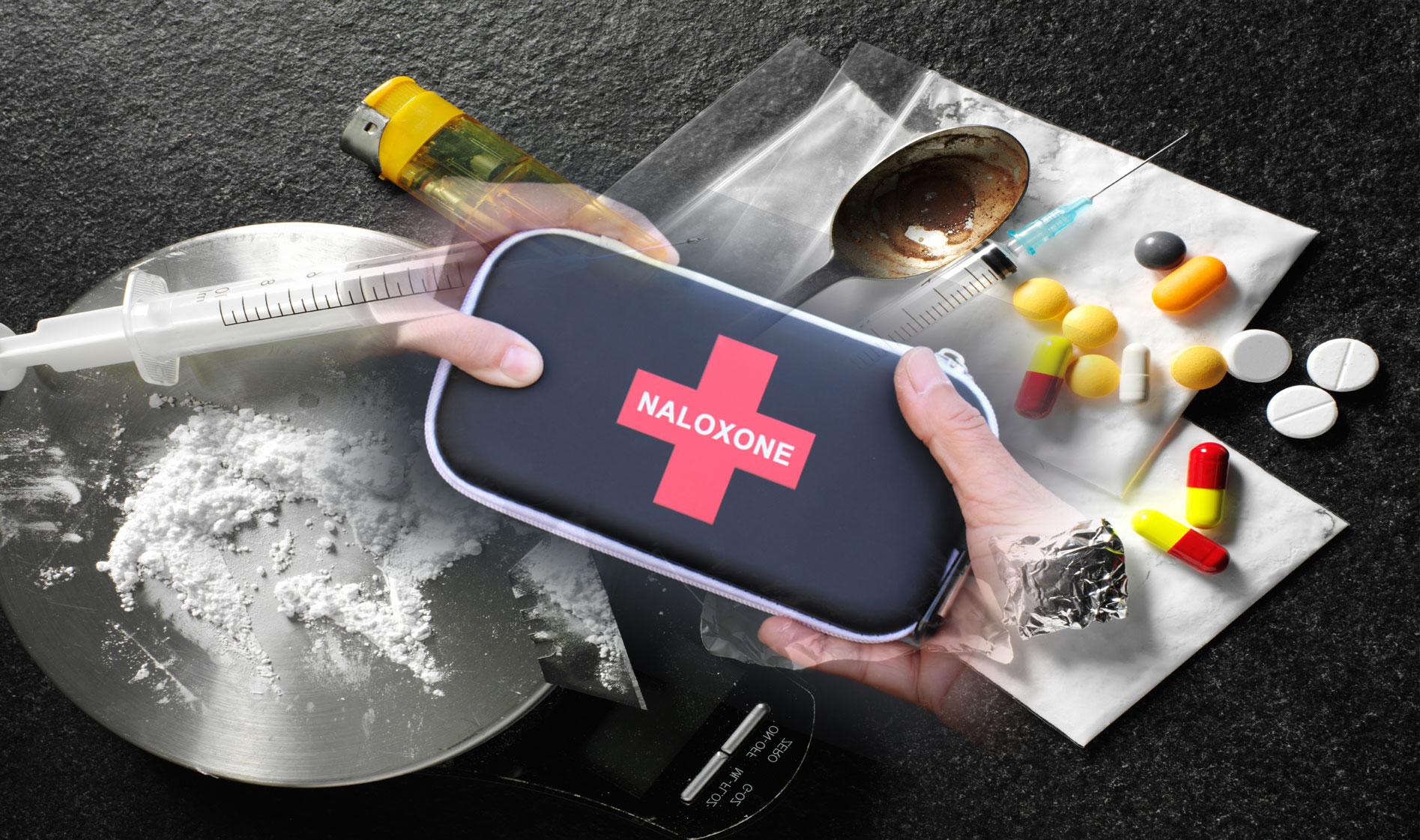 Naloxone kit and drugs